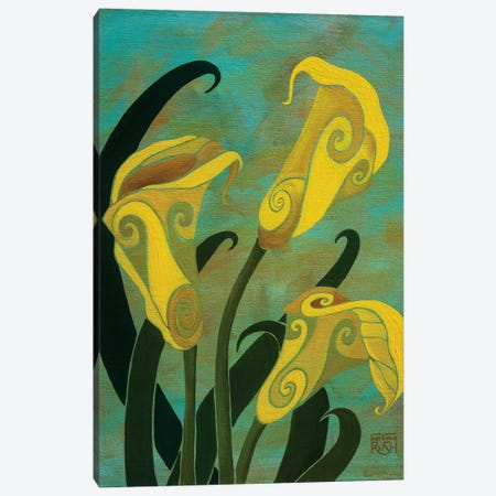 Sophisticated Callas Canvas Print #RUH105} by Barbara Rush Canvas Art