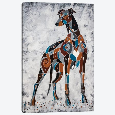 The Elegance Of Greyhounds Canvas Print #RUH117} by Barbara Rush Canvas Print