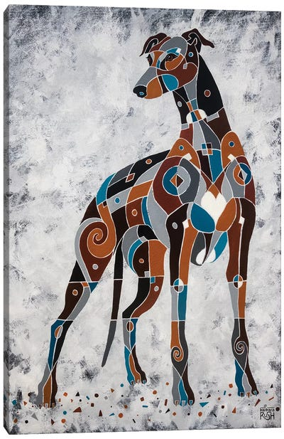 The Elegance Of Greyhounds Canvas Art Print