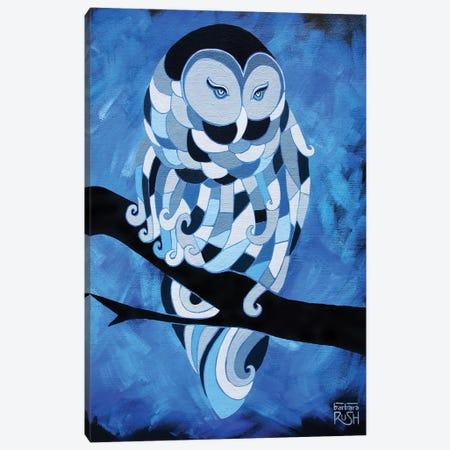 The Ice Owl Canvas Print #RUH120} by Barbara Rush Canvas Print