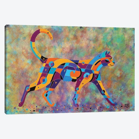 The Shimmer Cat 3-Piece Canvas #RUH126} by Barbara Rush Canvas Artwork