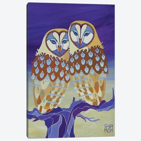 Together At Last Purple Canvas Print #RUH141} by Barbara Rush Canvas Art Print