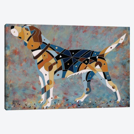Belle The Beagle 3-Piece Canvas #RUH145} by Barbara Rush Canvas Art