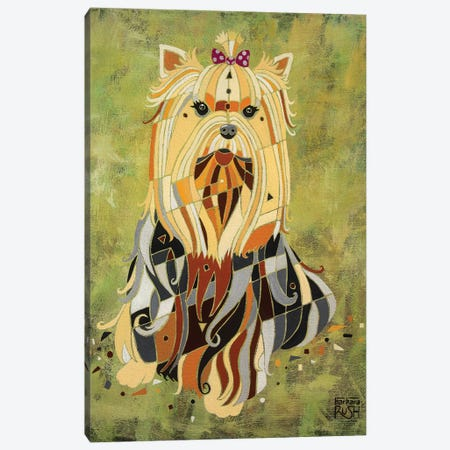Yorkie Love Canvas Print #RUH149} by Barbara Rush Canvas Art Print