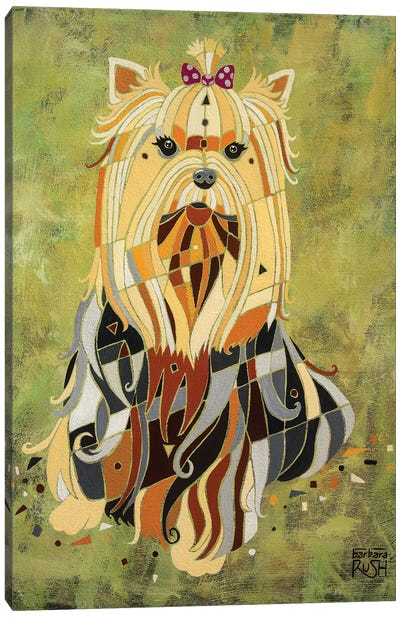 Yorkie Love Canvas Art Print