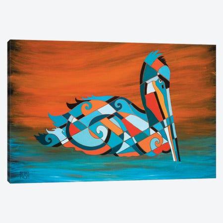 Pelican Canvas Print #RUH153} by Barbara Rush Canvas Wall Art