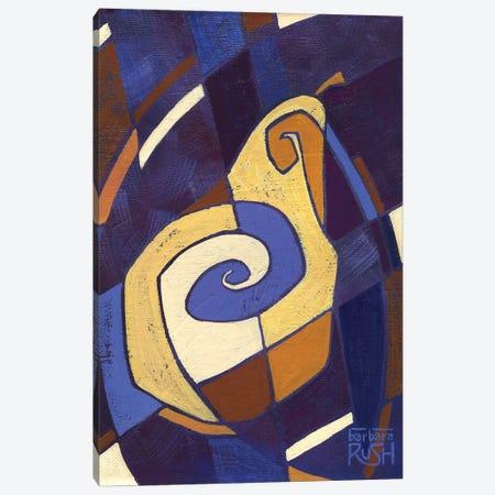 Jazzy Little Pear Canvas Print #RUH15} by Barbara Rush Canvas Artwork