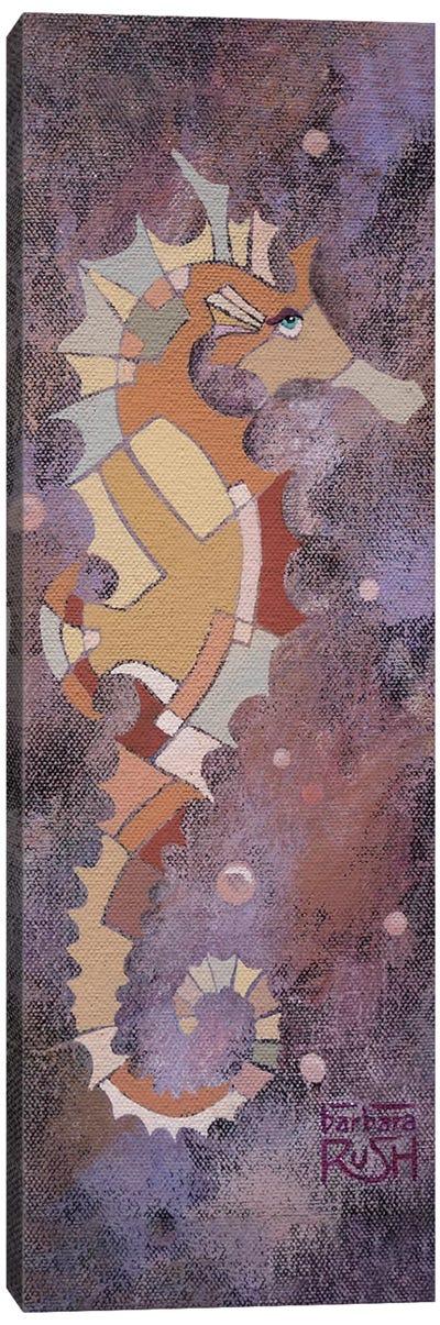 Purple Sea Horse I Canvas Art Print