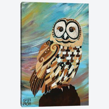 A Brand New Day Owl Canvas Print #RUH19} by Barbara Rush Art Print