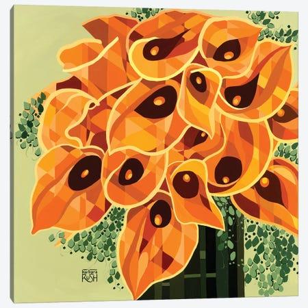 Enchanted Calla Lilies Canvas Print #RUH1} by Barbara Rush Canvas Art