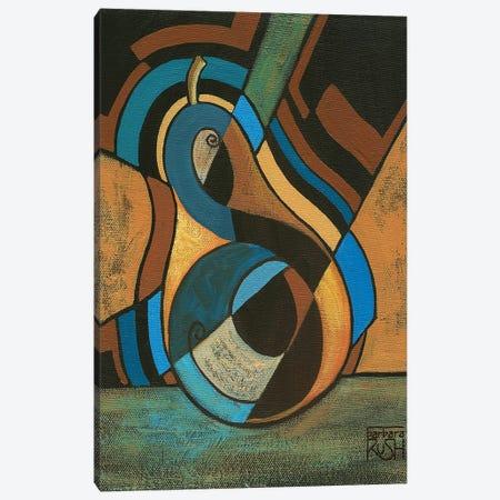 A Pear For Diego (Rivera) Canvas Print #RUH21} by Barbara Rush Canvas Wall Art
