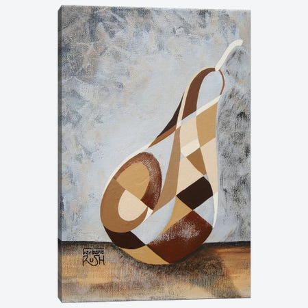 A Brown Pear Canvas Print #RUH22} by Barbara Rush Canvas Art