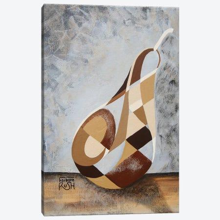 A Brown Pear Canvas Print #RUH22} by Barbara Rush Canvas Art