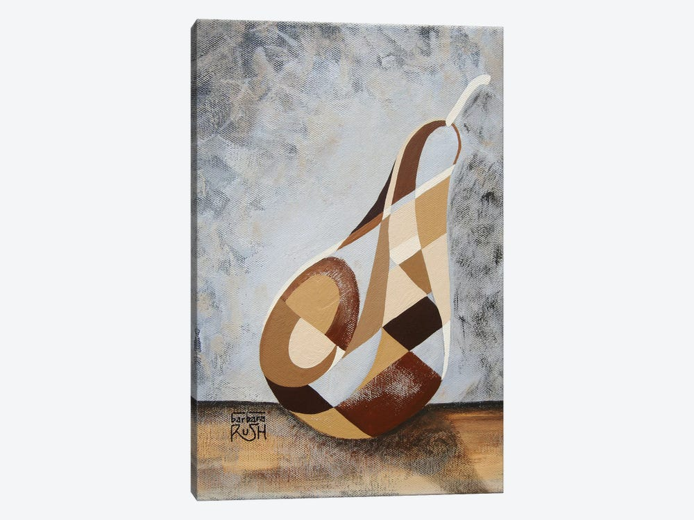 A Brown Pear by Barbara Rush 1-piece Canvas Artwork