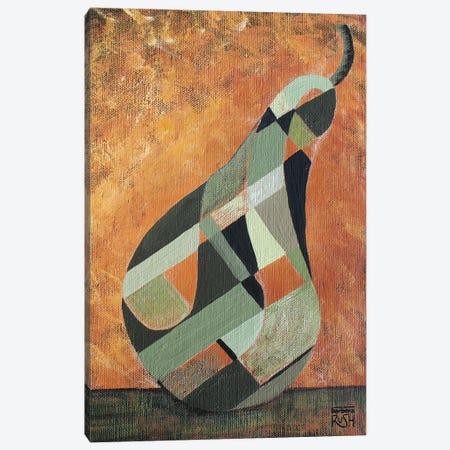 A Green Pear Canvas Print #RUH26} by Barbara Rush Canvas Art Print