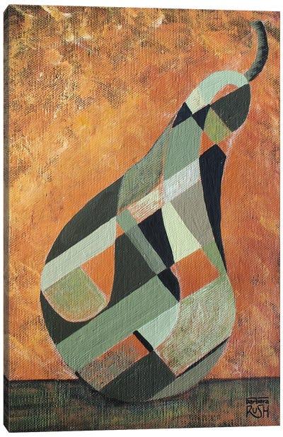A Green Pear Canvas Art Print