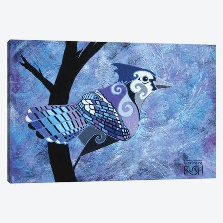 Blue Jay Canvas Print #RUH31} by Barbara Rush Art Print