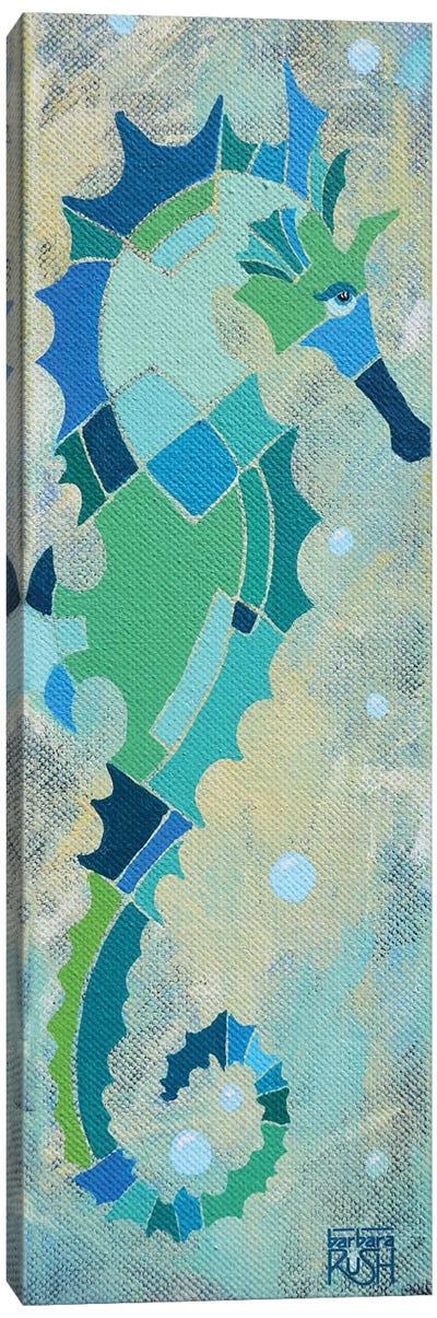 Blue And Sand Seahorse I Canvas Art Print