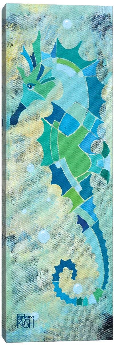 Blue And Sand Seahorse II Canvas Art Print