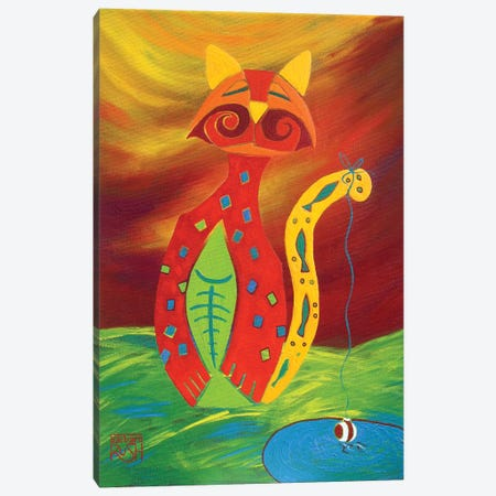 Catfish 3-Piece Canvas #RUH36} by Barbara Rush Canvas Art