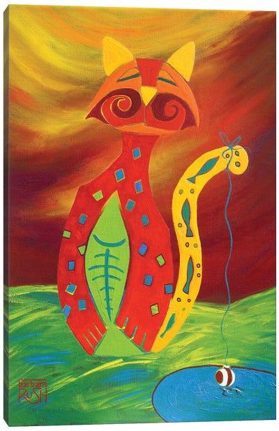 Catfish Canvas Art Print
