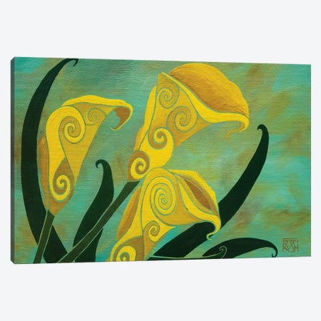 Charming Callas Canvas Print #RUH37} by Barbara Rush Canvas Wall Art
