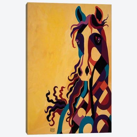 Curiosity Of Equus Canvas Print #RUH41} by Barbara Rush Canvas Art