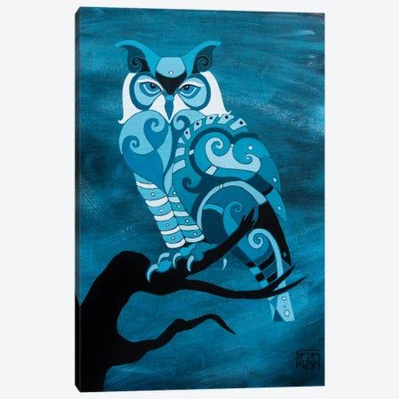 Dark Mystic Owl I Canvas Print #RUH43} by Barbara Rush Canvas Wall Art