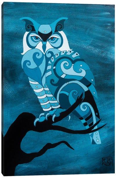 Dark Mystic Owl I Canvas Art Print