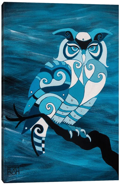 Dark Mystic Owl II Canvas Art Print