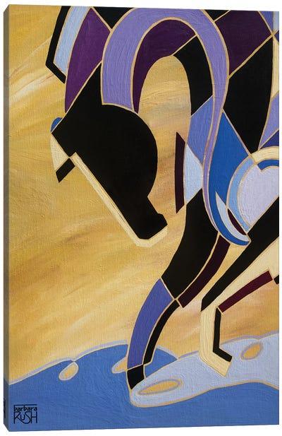 Elegance Of Equus Light Purple Canvas Art Print