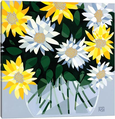 A Bouquet Of Delightful Daisies Canvas Art Print