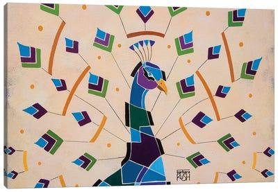 Enlightened Peacock Canvas Art Print