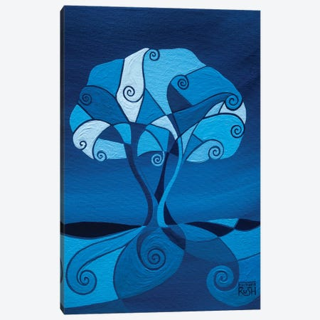 Enveloped In Blue Tree Canvas Print #RUH52} by Barbara Rush Art Print