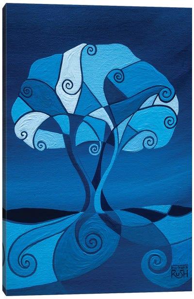 Enveloped In Blue Tree Canvas Art Print