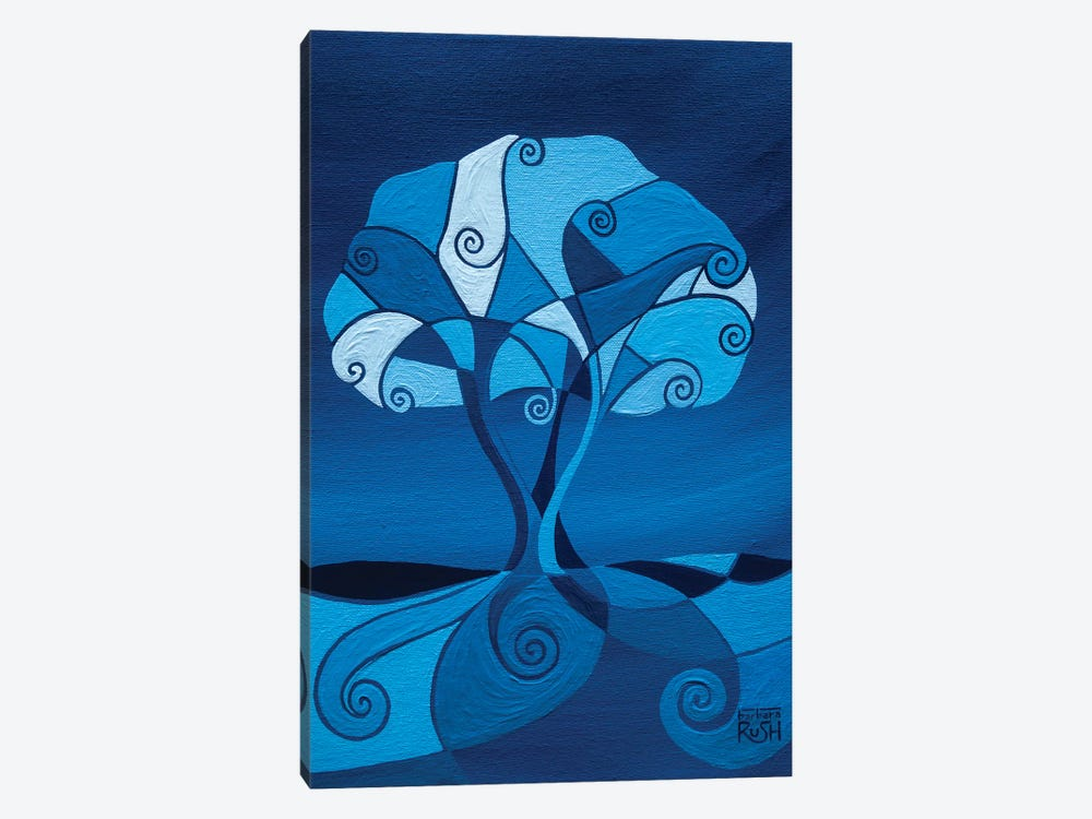 Enveloped In Blue Tree by Barbara Rush 1-piece Art Print