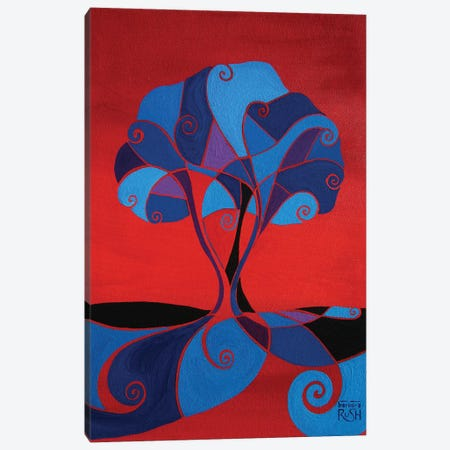 Enveloped In Red Tree Canvas Print #RUH53} by Barbara Rush Canvas Art Print