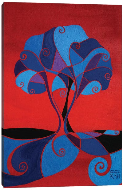 Enveloped In Red Tree Canvas Art Print