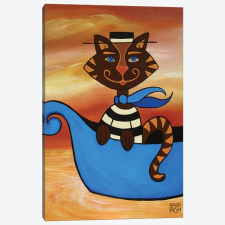 Gondolier At You Because I'm A Cat Canvas Print #RUH59} by Barbara Rush Canvas Print