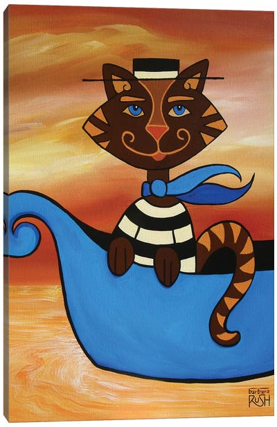 Gondolier At You Because I'm A Cat Canvas Art Print