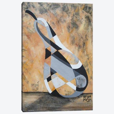 A Grey Pear Canvas Print #RUH5} by Barbara Rush Canvas Art Print