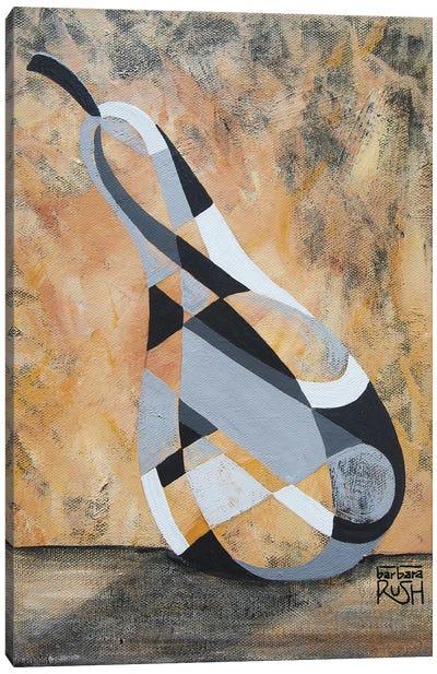 A Grey Pear Canvas Art Print