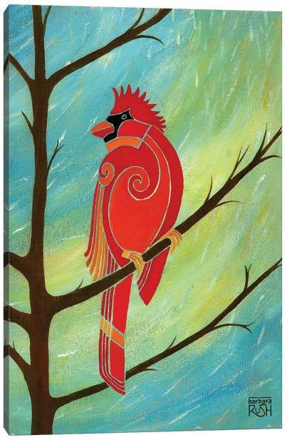 Just Looking Around Cardinal I Canvas Art Print