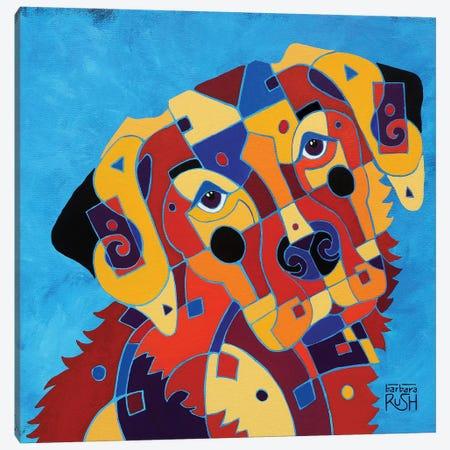Labrador Love Canvas Print #RUH70} by Barbara Rush Canvas Art Print