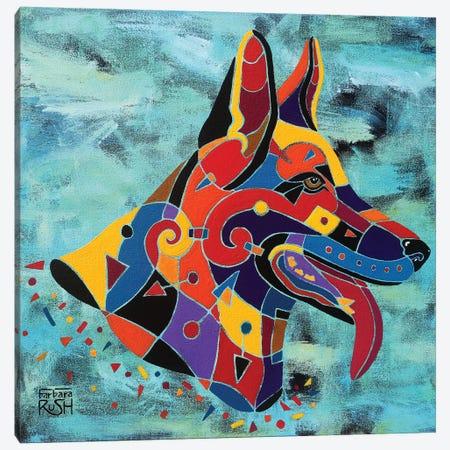 Maximilian The German Shepherd Canvas Print #RUH73} by Barbara Rush Canvas Print