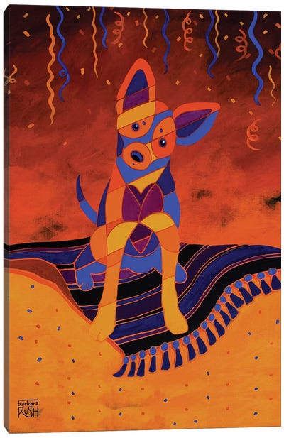 Party Fiesta Chihuahua Canvas Art Print