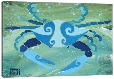 Crab Blue Green Canvas Art Print