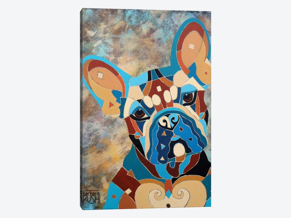 Pierre The Frenchie by Barbara Rush 1-piece Canvas Artwork