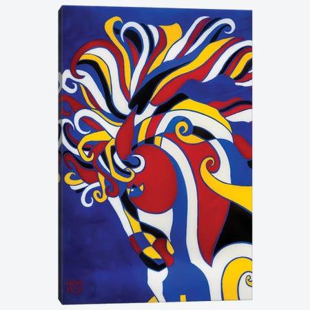 Quatre Pas IV -Blue Canvas Print #RUH93} by Barbara Rush Art Print