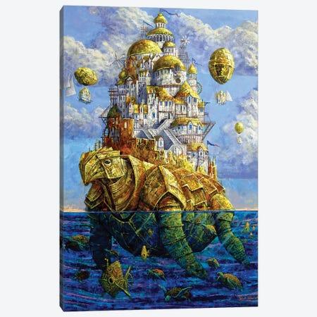 Golden Zaratan Canvas Print #RUR10} by Roch Urbaniak Art Print